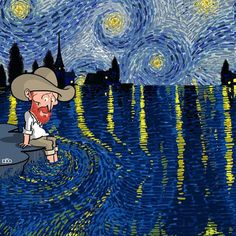 Cartoonist Illustrates the Remarkable Life of Vincent van Gogh in Colorful Comics. Van Gogh Cartoons by, Alireza Karimi Moghaddam Funny Paintings, Most Famous Paintings, Van Gogh Paintings, Famous Art, Vincent Van Gogh, Van Gogh Pinturas, Ciel Nocturne, Van Gogh Sunflowers, Van Gogh Art