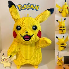 Life Sized Pikachu gemacht mit Perler Perlen What is your opinion about Life Sized Pikachu gemacht mit Perler Perlen ? Please, share with us! Pokemon Perler Beads, 3d Perler Bead, Diy Perler Beads, Pearler Beads, 3d Pokemon, Pikachu, Melty Bead Patterns, Beading Patterns, Sprites