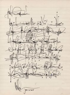 "Cecil Touchon - ""Asemic letter to my cousin Ouida Touchon after her visit to Santa Fe. Abstract Writing, Writing Art, Hand Writing, Lettering, Fashion Design Drawings, Calligraphy Letters, Modern Calligraphy, Letter Art, Mark Making"