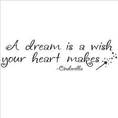 @Overstock.com - 'A Dream Is A Wish Your Heart Makes' Vinyl Decor - Portray a timeless message with this vinyl wall art decor displaying the Cinderalla quote, A dream is a wish your heart makes. This wall quote also features a delicate magic wand, and will perfectly accentuate a childs room or classroom.  http://www.overstock.com/Home-Garden/A-Dream-Is-A-Wish-Your-Heart-Makes-Vinyl-Decor/6971856/product.html?CID=214117 $32.99