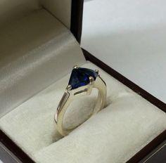 Vintage Ringe - 925 Silber Ring mit Kristallen blau 17,4 mm SR562 - ein Designerstück von Atelier-Regina bei DaWanda