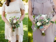 small bridesmaid bouquets - photo by Joseph and Jaime Photography http://ruffledblog.com/vintage-inspired-ontario-wedding