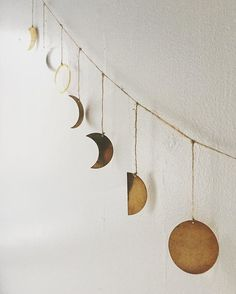 ❤️ Moon Phase Garland from #YVR Local shop #nineteentenhome 📷 @nineteentenhome
