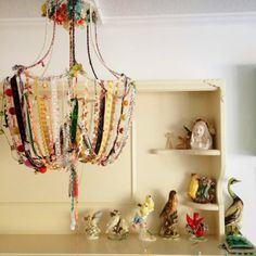 dottie angel: 'an atelier of sorts'.... Collection of birds. Plus, I lurve this lamp carcass.