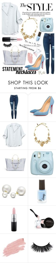 """make a statement+1k followers"" by lialicious on Polyvore featuring Topshop, Oscar de la Renta, Fujifilm, Allurez, MAC Cosmetics, philosophy, Jane Iredale and statementnecklaces"