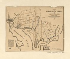 Map of Original Land Owners in Washington City