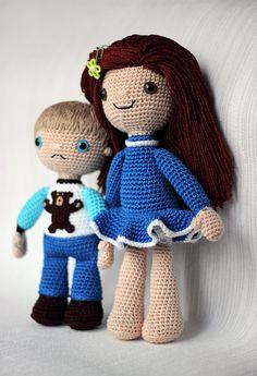 Crocheted Amigurumi Children