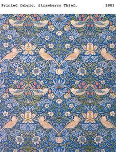 Printed fabric - Strawberry Thief - William Morris