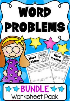 This Addition and Subtraction Word Problem Bundle features 64 printable worksheets which cover word problems up to 20. Aligned with Common Core, the pack includes both my Kindergarten and First Grade word problem worksheets. It is particularly useful for