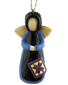 Amish Angel with Quilt Square Ornament  $3.99