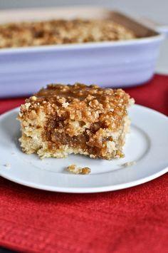 eggnog breakfast crumble crunch cake; oh that sounds good, i wish my market still had eggnog! :)