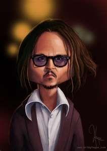 caricature Johnny Depp