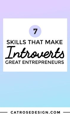 7 Skills That Make Introverts Great Entrepreneurs - Cat Rose - Tap the link now to Learn how I made it to 1 million in sales in 5 months with e-commerce! I'll give you the 3 advertising phases I did to make it for FREE! Starting A Business, Business Planning, Business Tips, Online Business, Business Quotes, Successful Business, Business Entrepreneur, Business Marketing, How To Find Out