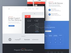 Money Manager Marketing Site by ⋈ Samuel Thibault ⋈ for Handsome