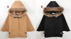 Hood Cape Poncho Cloak Batwing Sleeve Outwear Jacket Coat Hou