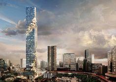 Auflösung der Skyline - Hochhaus von Ole Scheeren in Bangkok fertiggestellt