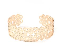 Baroque Filigree Cut Bracelet in textured Gold.