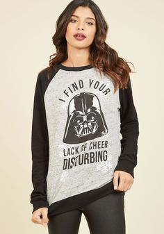May the North Be With You Knit Top. 'En-Force' your rules about celebrating the season by wearing this graphic sweater! #black #modcloth