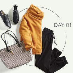 stitch fix monthly trends - Super cute!  Looks more fitting for fall than August in Iowa, but love the top and the joggers!