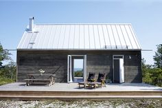 Fårö Prefab Cottages, Small Cottages, Prefab Homes, Log Homes, Cabin Design, Cottage Design, Cottage Style, House Design, Tiny House Cabin