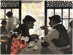 Chatting over Tea - Wu Jide - 1984, China
