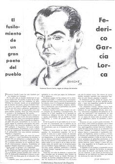 Celebramos a uno de los grandes poetas del siglo XX, asesinado en los primeros… Spanish, Granada, Portuguese, Editorial, Club, War, Frases, Federico Garcia Lorca, Book Quotes