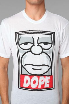 The Simpsons DOPE Tee  urban outfitters