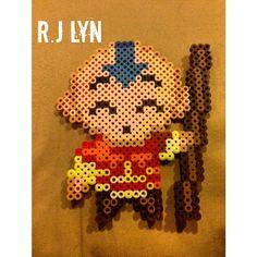 Aang Avatar perler beads by rjlynnn