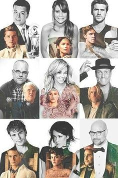 Hunger games and Catching Fire cast/characters!(: