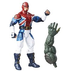 Marvel 6-Inch Legends Series Energized Emissaries: Captain Britain  Comic-inspired design  Features Abomination Build-A-Figure piece  Collect other Marvel Legends Series figures to expand any Marvel collection! (each sold separately)  Action figure size: 6 inches  Includes figure, accessory, and Build-A-Figure piece