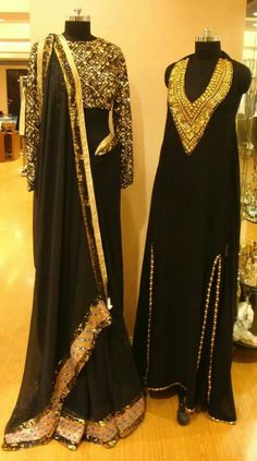 This black dress on the right is stunning!