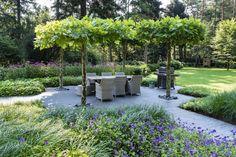 Garden Archway, Terrace Garden, Garden Paths, Gravel Landscaping, Modern Landscaping, Back Gardens, Outdoor Gardens, Garden Bulbs, Garden Cottage