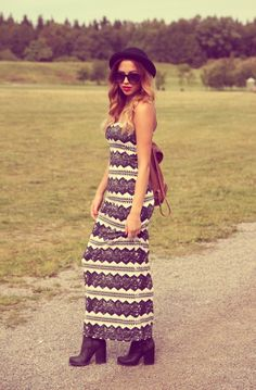 Love the dress, not to the boots thou...