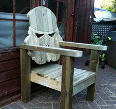 Wood Is Good: Custom Stormtrooper Head Lawn Chair | Geekologie.