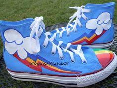 Custom cutie mark painted shoes