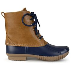 Brinley Co Womens Classic Ankle Laceup Duck Boots >>> Click on the image for additional details.