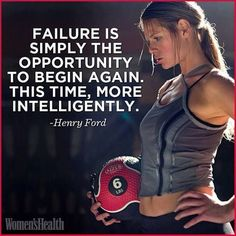 "3 Best Fat-Blasting Exercises You Aren't Doing ""Failure is simply the opportunity to begin again. This time, more intelligently."" - Henry Ford""Failure is simply the opportunity to begin again. This time, more intelligently. Fitness Inspiration, Motivation Inspiration, Workout Inspiration, Body Inspiration, Morning Inspiration, Fitness Motivation, Fitness Quotes, Workout Quotes, Exercise Motivation"