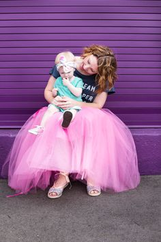 How cute is this mommy and me ice cream outfit? The pink tulle skirt? Adorable!