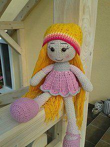 Hračky - Háčkovaná bábika Anička - 5836448_