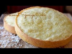 Moist coconut sponge cake loaded with coconut flavor! Combine this cake with any filling for a delicious coconut layer cake!