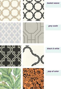 Sherwin Williams removable/temporary wallpaper (black is SW-82362940).             Great idea!!!!
