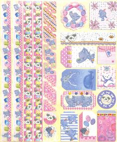 Joy!Crafts Sparkling Embossed stickers Baby 6013/0021 - Embossed stickers