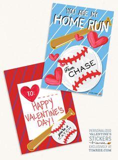 Timree: Personalized Valentines Baseball Card  www.timree.com