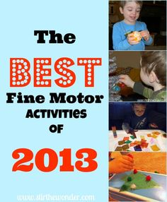 The Best Fine Motor Activities of 2013 - Stir the Wonder #kbn #finemotorfridays #linkyparty