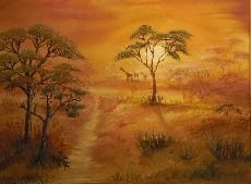 African Dream / Oil on Canvas painted by Nati Merlin