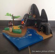 Une déco pour les playmobils: une île pour les pirates