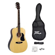 Pyle-Pro PGA20 Professional Full Size Acoustic Guitar Package w/ Accessories