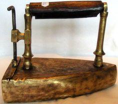 Antique Rare Bronze Vintage Cast Iron Flat Sad