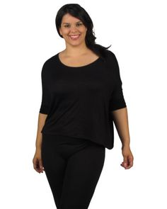 Plus size Oversized 3/4 Sleeve Top $15.95