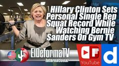 Hillary Clinton Sets Personal Single Rep Squat Record While Watching Ber...